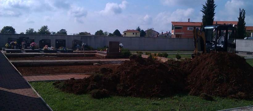 Radovi na groblju Žbandaj