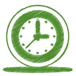 green-clock-icon