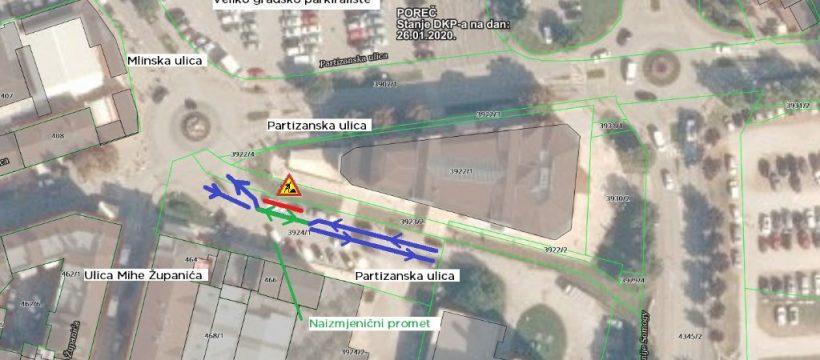 Regulacija prometa - Partizanska ulica